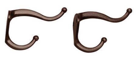 Ace Medium Coat and Hat Hook 3 in. L Metal 2 pk
