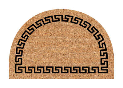 Decoir Tan/Black Coir Nonslip Doormat 24 in. L x 36 in. W