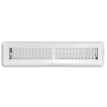 Tru Aire 14 in. W x 2 in. H White Steel Floor Register