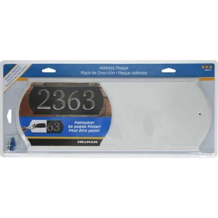 Hillman White Wood Paintable Address Plate