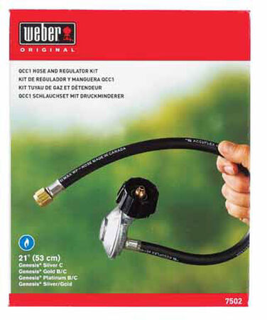 Weber Rubber Gas Line Hose and Regulator 21 in. H 21 in.