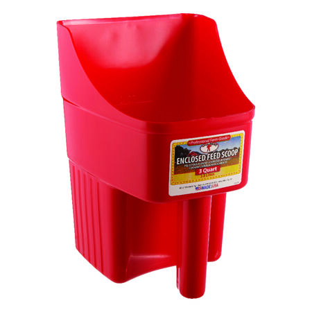 Little Giant 3 Red Plastic Feed Scoop