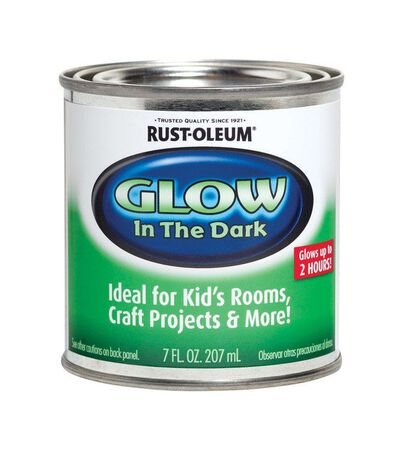 Rust-Oleum Interior Latex Glow-in-Dark Paint Luminous Flat 7 oz. Base 1