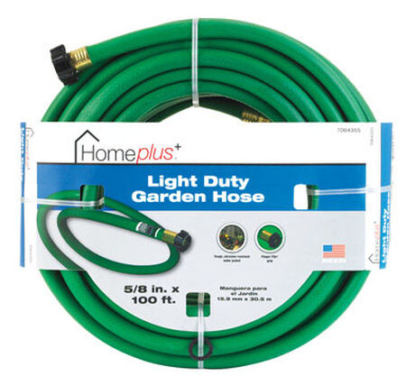 Home Plus 5/8 in. Dia. x 100 ft. L Garden Hose Kink Resistant Safe for Drinking Water