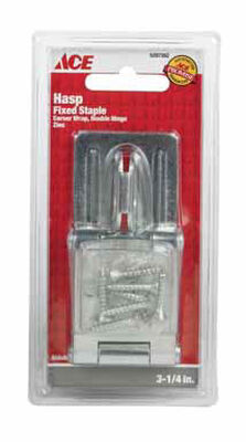Ace Zinc Double Hinge Safety Hasp 3-1/4 in. L