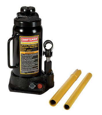 Craftsman Hydraulic Automotive Bottle Jack 12 ton Black