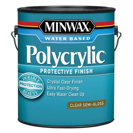 Minwax Semi-Gloss Clear Polycrylic 1 gal.