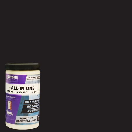 BEYOND PAINT Matte Licorice Water-Based Acrylic All-In-One Paint 1 qt.