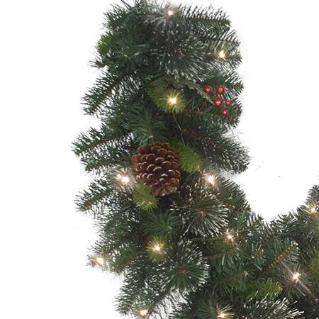 Celebrations 6 ft. L LED Prelit Decorated Cedar Pine Christmas Garland