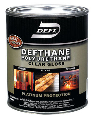 Deft Indoor and Outdoor Clear Gloss Defthane Polyurethane 1 qt.