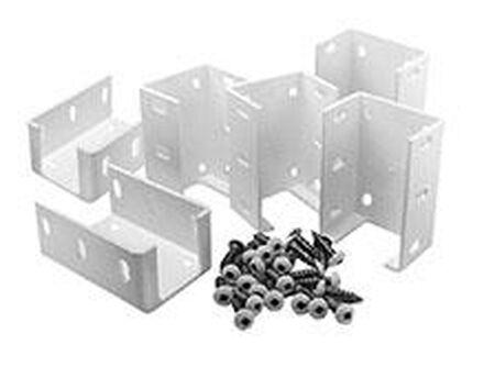 6 Aluminum Brackets w/Screws-White