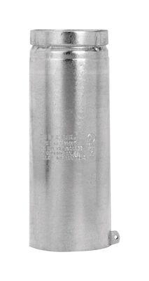Selkirk 3 in. Dia. x 12 in. L Aluminum Round Gas Vent Pipe Metallic