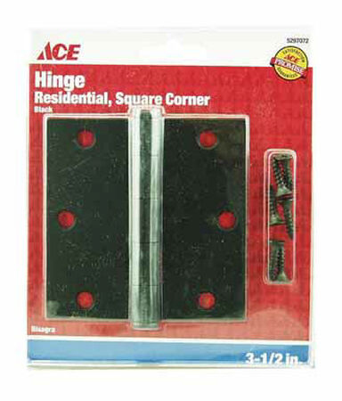 Ace Steel Door Hinge 3-1/2 in. L Black 1 pk