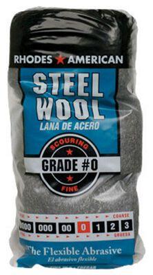 Rhodes American 4 in. W x 8-3/4 in. L Fine 0 Grade Steel Wool