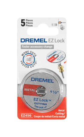 Dremel EZ Lock Metal Cut-Off Wheel 1.5 in. Dia. x 0.05 in. thick 5 pk