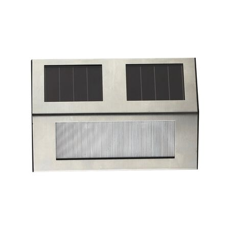 Living Accents Silver Solar Powered LED Step Light 1 pk
