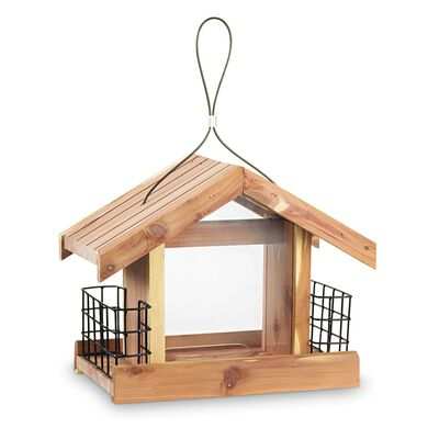 Pennington Cedar Chalet Bird Feeder 2ea