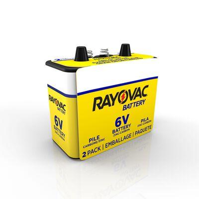 Rayovac Alkaline Lantern Battery 6 volts 2 pk