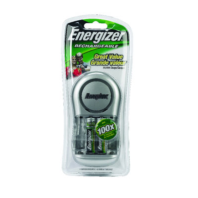 Energizer Rechargable Battery Charger Multiple Size 2 or 4 AA Batteries 2 000 mAh