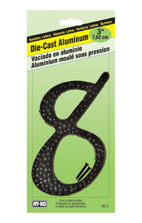 Hy-Ko Nail On Black Aluminum Number 8 3-1/2 in.