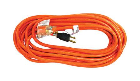 Ace Indoor and Outdoor Extension Cord 14/3 SJTW 25 ft. L Orange