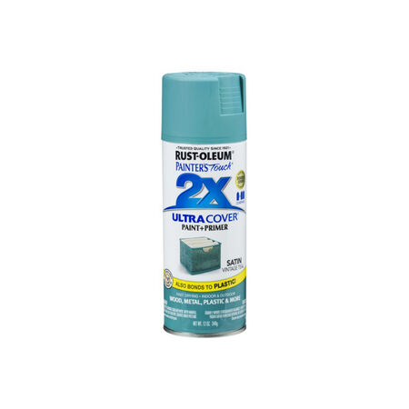 Rust-Oleum Painter's Touch 2X Ultra Cover Satin Vintage Teal Spray Paint 12 oz.