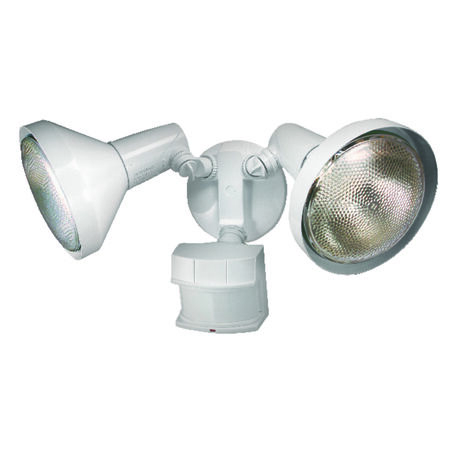 Heath Zenith Security Spotlight White Metal Motion-Sensing PAR 38 120 watts