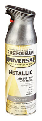 Rust-Oleum Universal Paint & Primer in One Dark Steel Metallic Metallic Spray 11 oz.