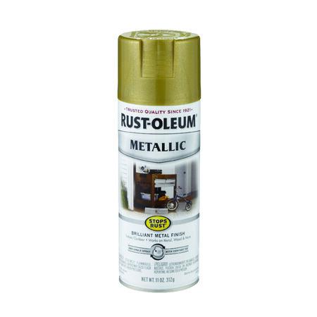 Rust-Oleum Stops Rust Gold Rush Metallic Metallic Spray 11 oz.