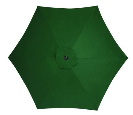Living Accents 9 ft. Tiltable Green MARKET Patio Umbrella