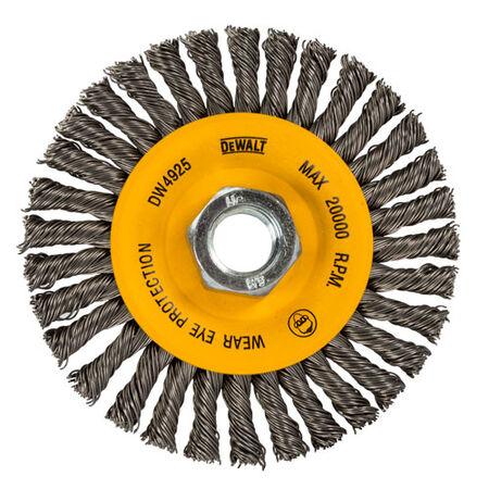 """4"""" x 5/8""""-11 HP .020 Carbon Stringer Wire Wheel"""