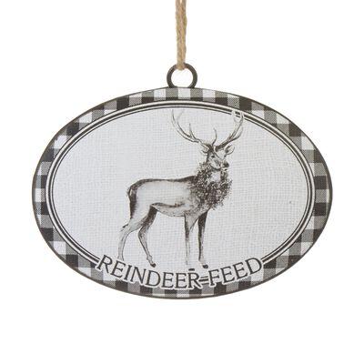 "6"" Reindeer Feed Disc Ornament"