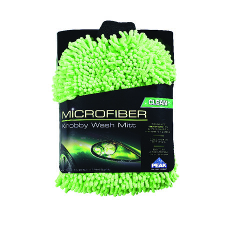 Peak 8 in. L x 0.5 in. W Microfiber Car Wash Mitt 1