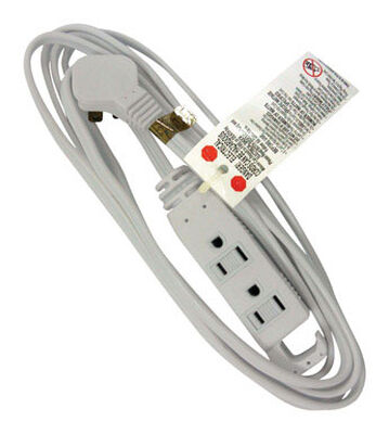 Ace Indoor Extension Cord 16/3 STP-3 12 ft. L White