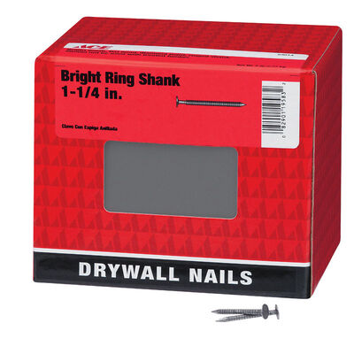 Ace Flat 1-1/4 in. L Drywall Nail Annular Ring Shank Bright 5 lb.