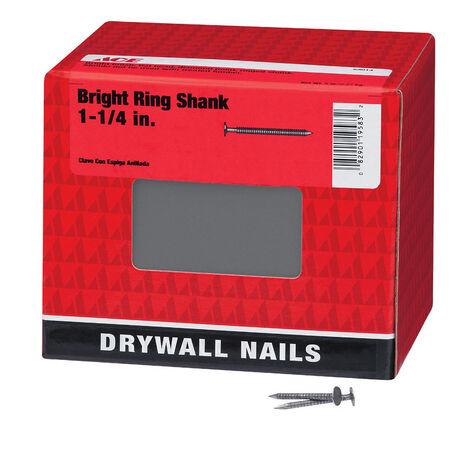 Ace Flat 1-1/4 in. L Drywall Nail Annular Ring Shank Bright 5 lb.