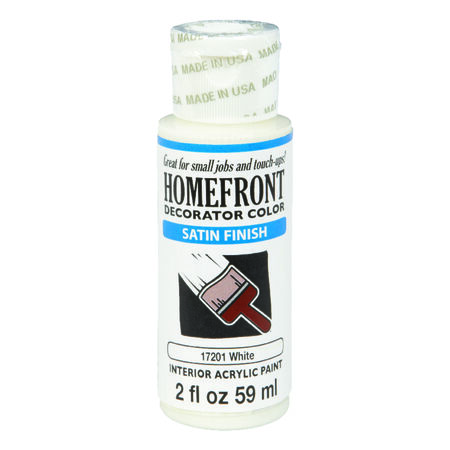 Homefront Satin White Paint 2 oz.