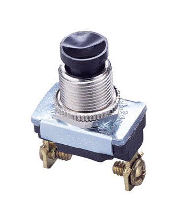 Gardner Bender 6 amps Black Push Button Push Button Switch Single Pole 1