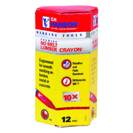C.H. Hanson Red Lumber Crayon