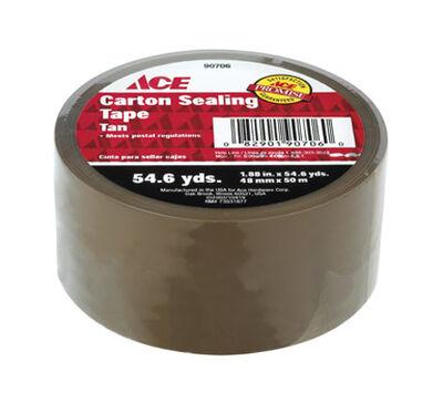 Ace 1.88 in. W x 54.6 yd. L Packaging Tape Tan