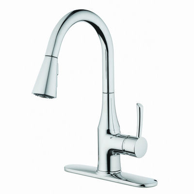 OakBrook Tucana One Handle Chrome Pulldown Kitchen Faucet