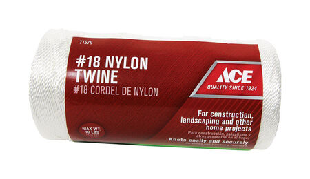 Ace 18 in. Dia. x 1050 ft. L Twisted Nylon Twine White