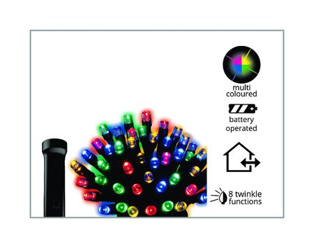 Celebrations Durawise Battery Operated LED Light Set Multicolored 11.5 ft. 48 lights
