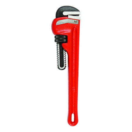 Ridgid 14 in. Cast Iron Pipe Wrench Red
