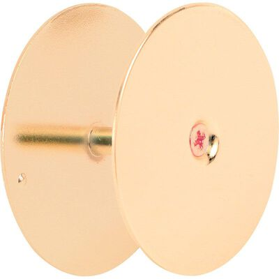 Prime-Line Brass-Plated Hole Cover Plate 1 pk