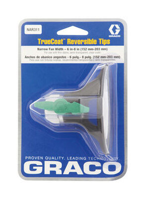 Graco Truecoat 311 Narrow Reversible Tip 6 in.-8 in. For use with Graco Truecoat Airless Sprayers