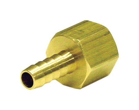 Ace Brass Hose Barb 1/2 in. Dia. x 3/8 in. Dia. Yellow 1 pk