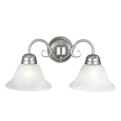 Millbridge 2-Light Wall Light, Satin Nickel #511600