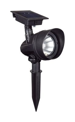 Living Accents Powered by Duracell Solar-Powered LED Spot Light Black 0.18 watts 1 pk