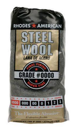 Rhodes American 4 in. W x 8-3/4 in. L Super Fine 0000 Grade Steel Wool